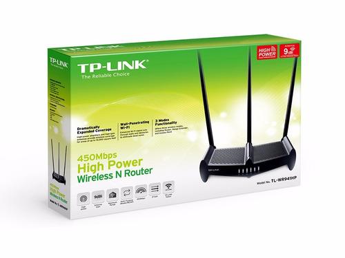 router tp-link tl-wr941hp alta potencia 3 antenas 9db 450mbp