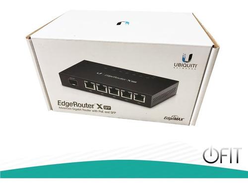 router ubiquiti networks er-x-sfp 5 puertos poe 1 sfp full