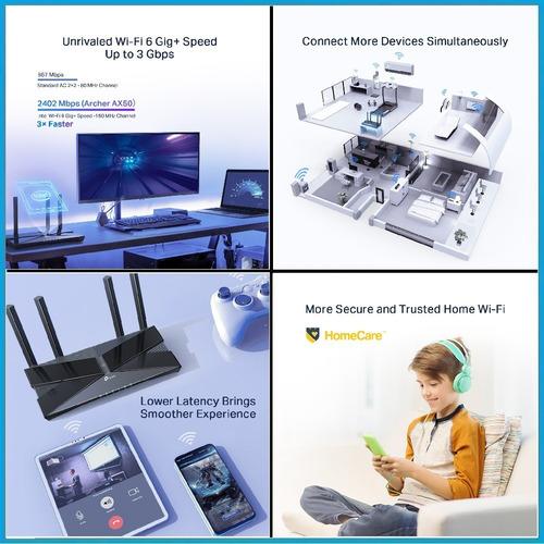 router wi-fi tp-link archer ax50 dualbanda gigabit 3gbps