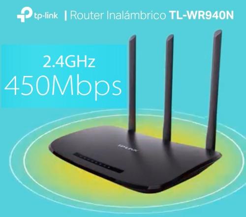 router wifi 450 mbps 3 antenas tplink wr940n garantía 5 años