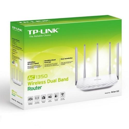 router wifi archer c60 ac1350 dual band 5 antenas 5ghz