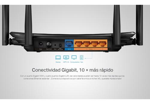 router wifi dual band gigabit ac1200, tp-link archer a6