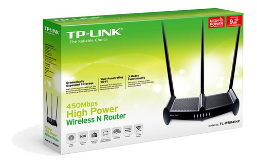 router wifi inalámbrico tp-link tl-wr941hp 450mbps potencia