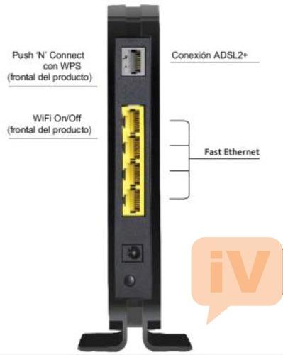 router wifi modem adsl netgear dgn1000 n150 para aba cantv