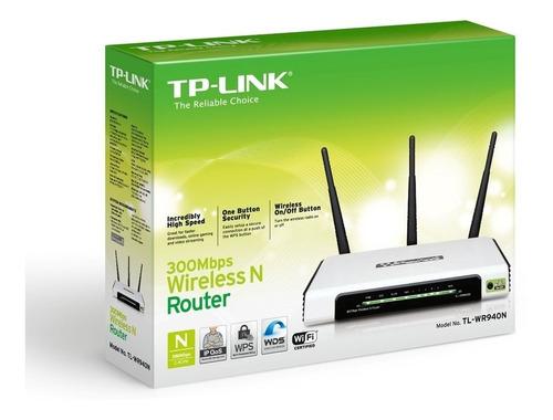 router wifi n 300 mbps 3 antenas 4 puertos tplink wr940n 940