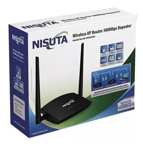 router wifi nisuta 300mbps 2 antenas repetidor wir302n