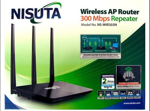 router wifi nisuta ap 303n repetidor 300mbps 3 ant 5dbi