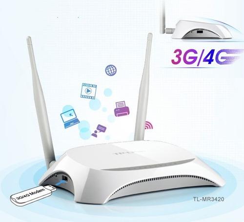 router wifi para modem usb 3/4g y rj45 tp link mr3420 300mbp