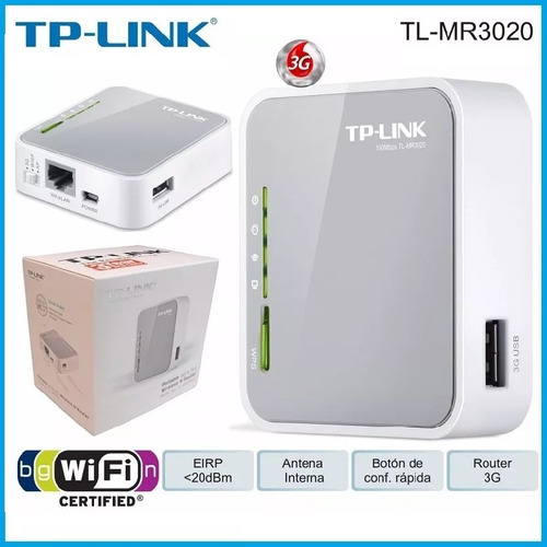 router wifi portatil tp-link tl-mr3020 modem 3g 4g