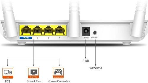 router wifi tenda f3 wireless 300 mbps 3 antenas