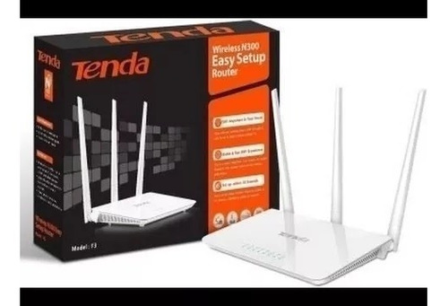 router wifi tenda f3 wireless 300 mbps 3 antenas strong