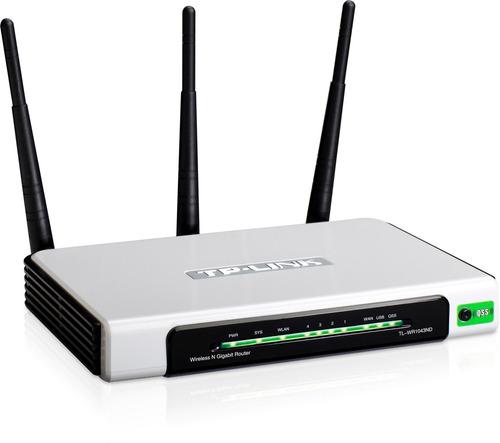 router wifi tp link tl-wr1043nd 300 mbp/usb 3 ant desmontabl