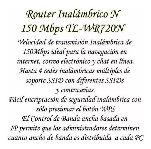 router wifi tp link wr720n somos tienda fisica