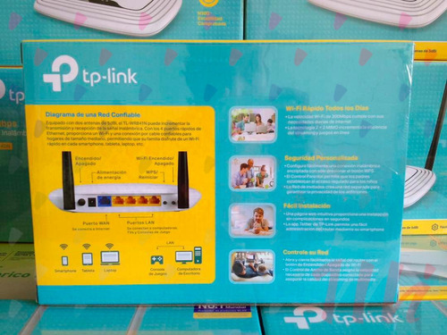 router wifi tplink 2 antenas 300mbps wr841n 5 años