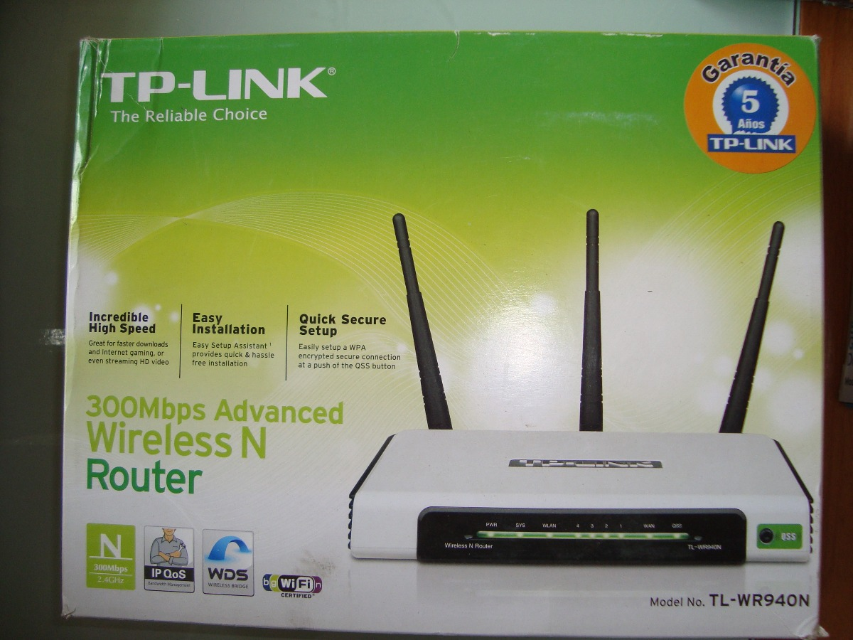 Tp Link Tl Wr940n Wireless N300 Home Router Manual Sfb 450mbps N 300mbps Usado Cargando Zoom