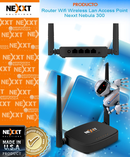 router wireless nexxt nebula 300mbps lan access point nuevo