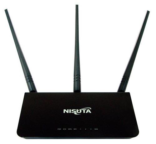 router wireless nisuta nswir303n 3 antenas 5 dbi repetidor