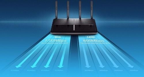 router wireless tp-link archer c2600 gigabit dual band usb