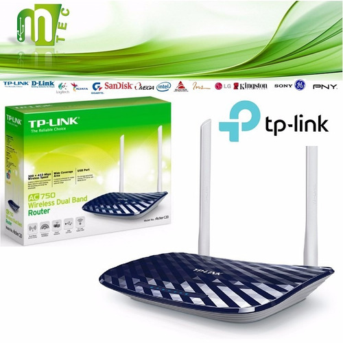 router wireless wifi archer c20 ac750 dual band tp-link 2 an