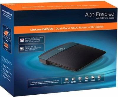 router wireless wifi n600 gigabit linksys ea2700 dual band