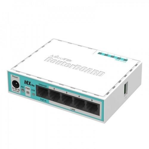 routerboard mikrotik rb750 rb750r2 con fuente