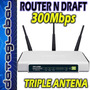 Router N 300mbps Tp-link Tl-wr941nd Triple Antena Unico!