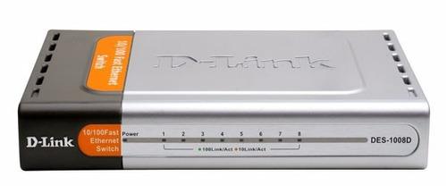 routerswitch d-link 10/100 fast ethernet des1008d/ 8 puerto
