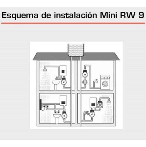 rowa mini rw9 bomba presurizadora 2 baños + frente de bronce