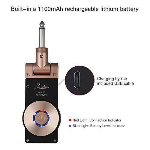 rowin 2.4g recargable inalámbrico transmisor inalámbrico