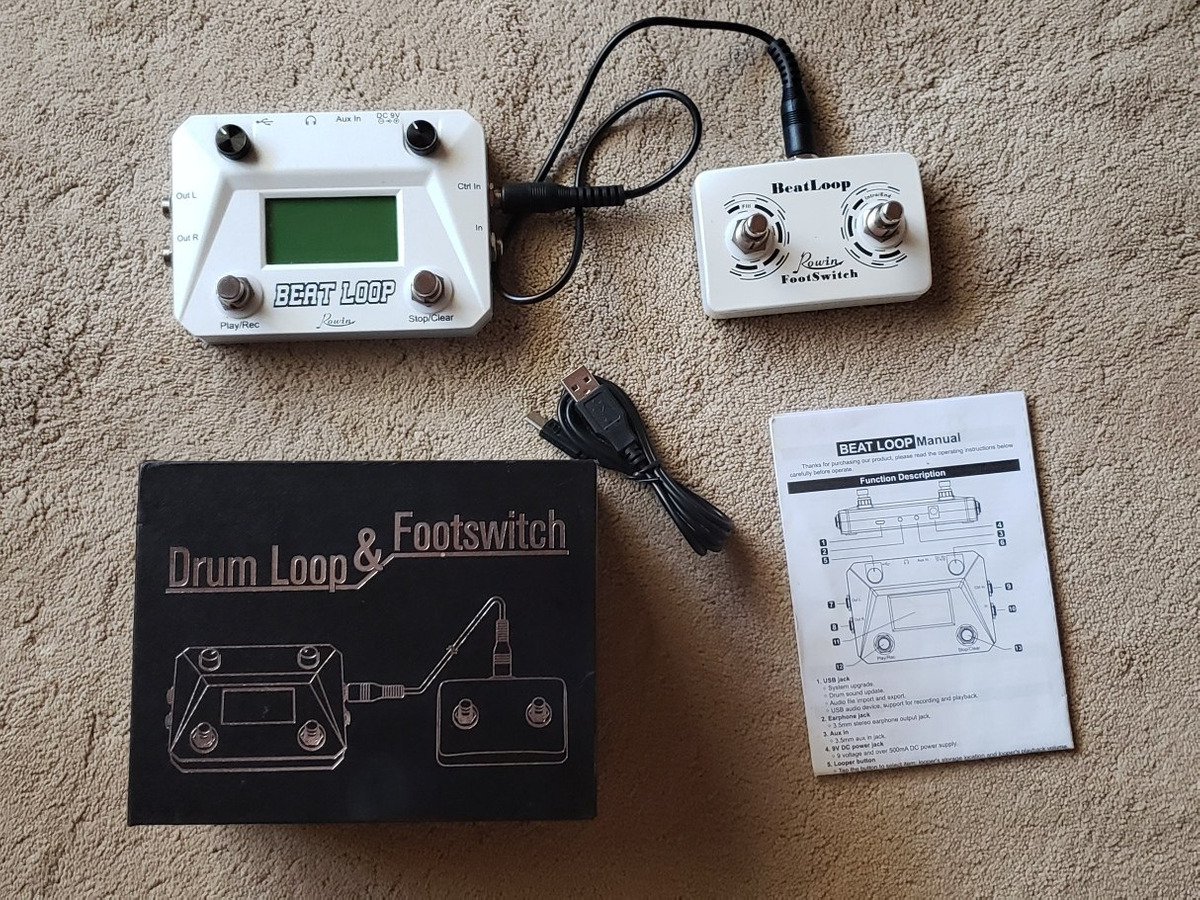 Rowin Beat Loop Drum + Loop + Tap Footswitch
