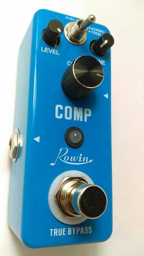 rowin mini pedal compresor guitarra bajo comp dyna aguilar