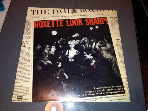 roxette look sharp vinilo arg 1989