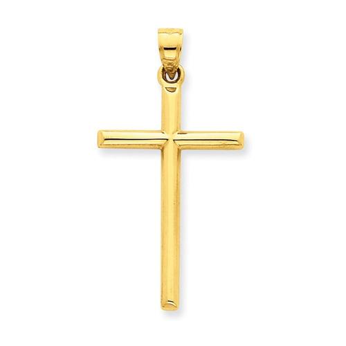 roy rose jewelry 14k oro amarillo pulido cruz colgante hu