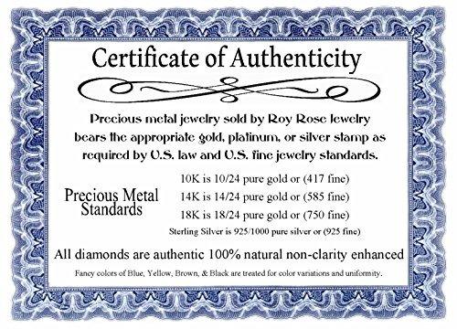 roy rose jewelry 14k oro blanco cruz colgante de uñas