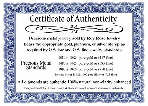 roy rose jewelry 14k oro blanco pulido cruz colgante de t...