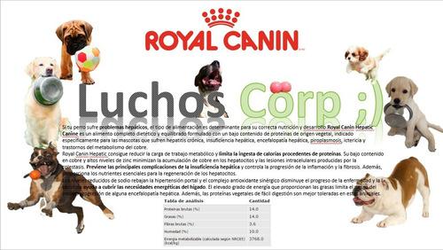 royal canin hepatic 12 kg original sellado