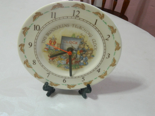 royal doulton reloj  infantil  bunnykins  ingles funcionando