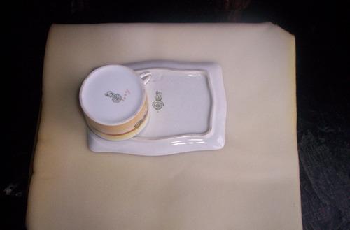 royal doulton serie cocheros sandwich tray con tacita