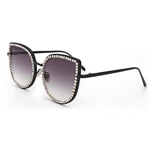 32cf292405 Royal Girl Luxury Cat Eye Gafas De Sol Para Mujer Crystal ...