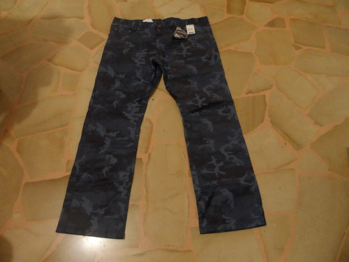 royal premium slim straight talla 36 x 30 camuflage azul