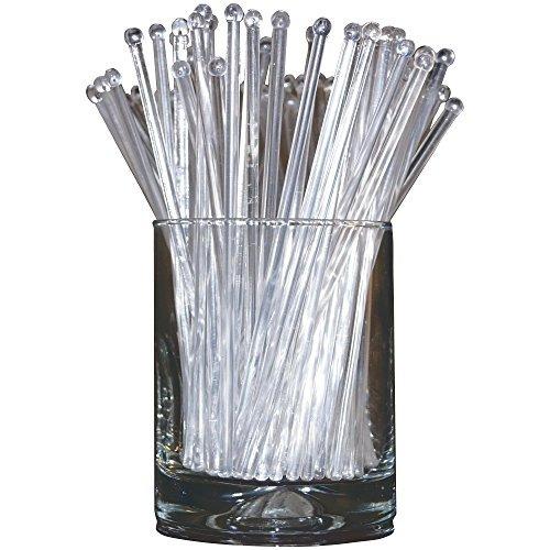 royer agitadores de punta redonda de plástico de 6 set de 48