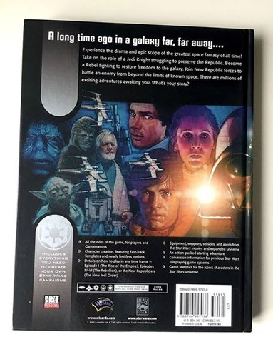 rpg - star wars roleplaying game - core rulebook