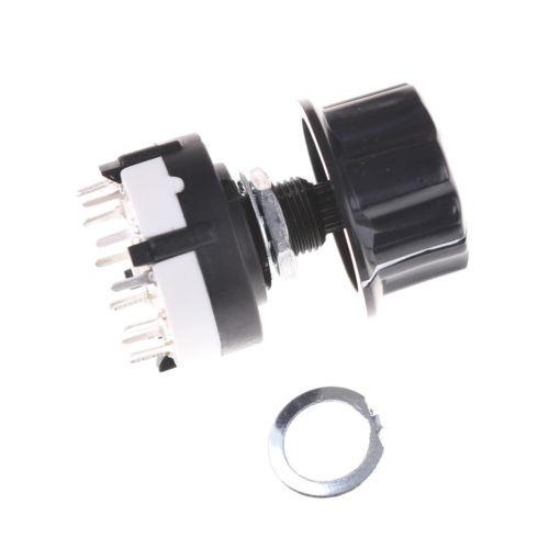 RS26 interruptor selector rotatorio de canal 1 pole position 12 Seleccionable Con Perilla