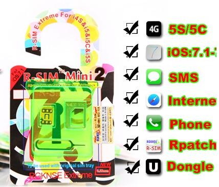 rsim mini 2 r-sim gevey turbosim iphone 4s 5 5s 5c mn4