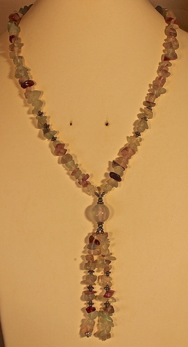 rsp j3194 maxi colar 43cm prata 925 fluorita ametista natura