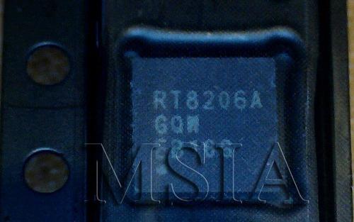 rt8206agqw rt8206a rt8206 qfn novo, frete c.r.  msia