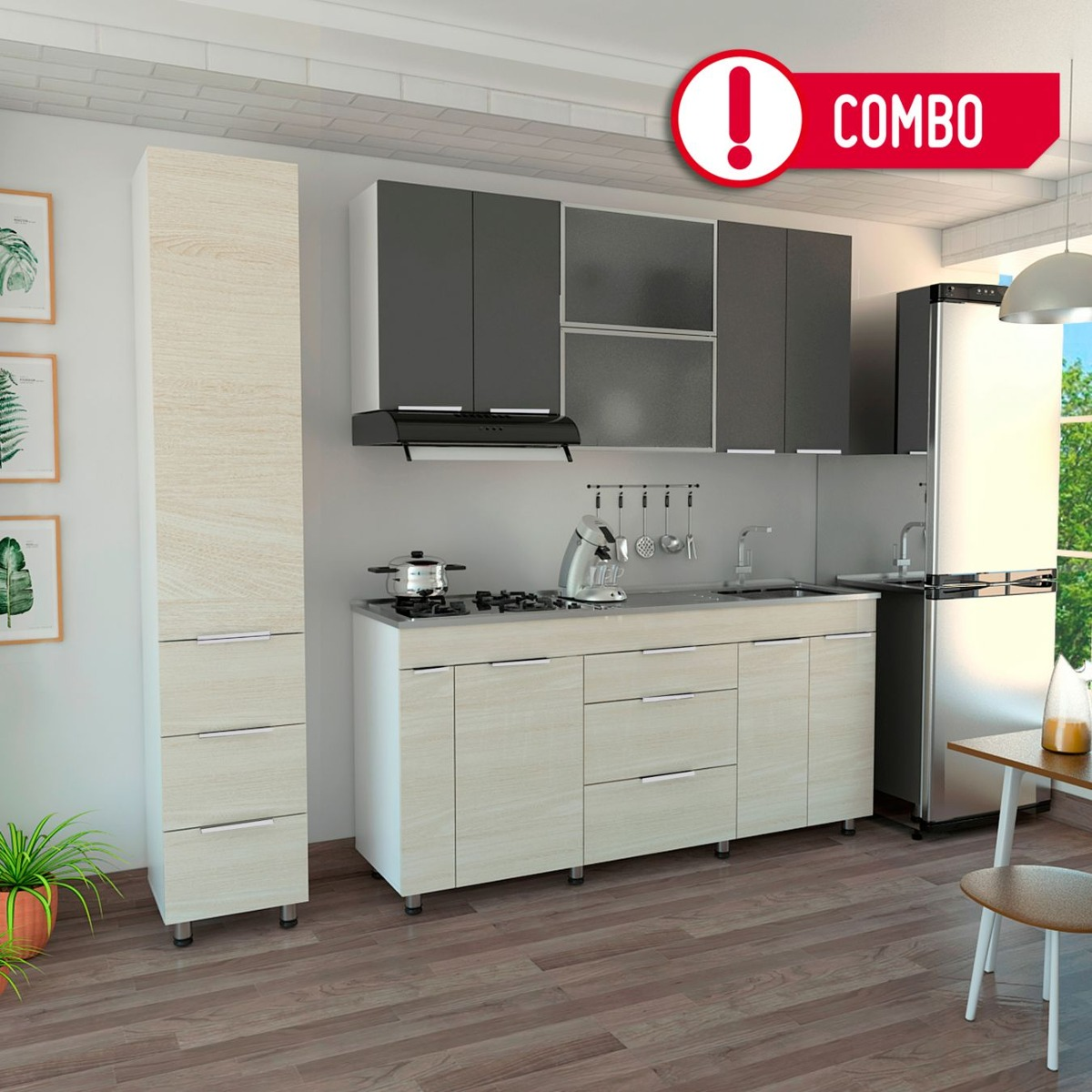Rta Cocina Integral Milano Mueble Superior 1.80 Metros Tdt2 ...