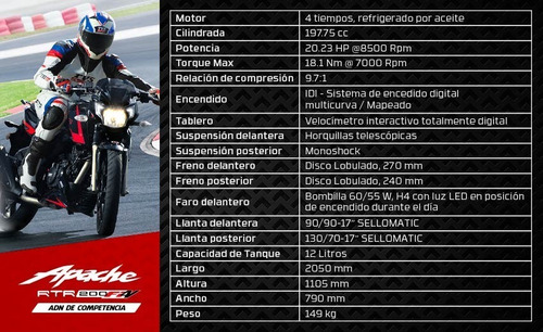 rtr 200cc. tvs  (nueva)