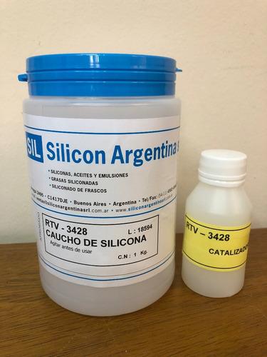 rtv 3428 1kg - caucho de silicona uso alimenticio y protesis