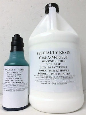 CAST-a-Mold 25T RTV Silicona para hacer casting de goma Kit de 1//2 galones
